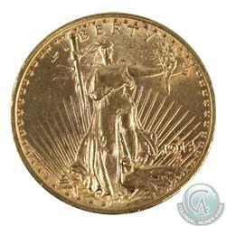 USA 1914-S $20 Gold Saint-Gaudens Double Eagle B.U.