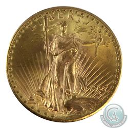 USA 1927 $20 Gold Saint-Gaudens Double Eagle UNC+