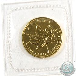 RARE  1994 Canada $2 1/15 Fine Gold Maple Leaf (Tax Exempt). Produced only in 1994, these gold maple