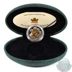 Canada 1999 $2 22K Nunavut Commemorative Gold Coin. Comes in original mint packaging with COA.