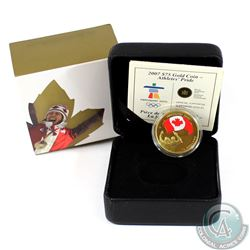 Canada 2007 $75 Olympic Games; Athletes Pride 14K Gold Coin.