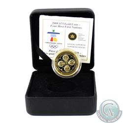 Canada 2008 $75 Four Host First Nations 14K Gold Coin. Comes in original clamshell case with COA. Ou