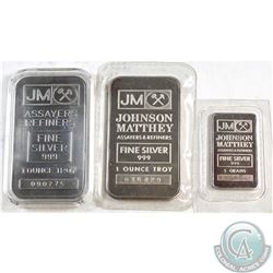 Scarce Johnson Matthey Fine Silver Bar Lot (Tax Exempt). You will receive a Johnson Matthey 5 gram B