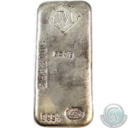 RARE  Johnson Matthey 500g Fine Silver Bar (Tax Exempt). This 500 gram example comes with the Origin
