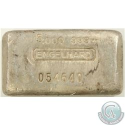 Ultra Scarce  Engelhard 5oz Fine Silver Bar '6th Series' (Tax Exempt). 6th series standard productio
