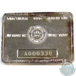 LOW Serial #  Vintage Royal Canadian Mint 10oz Fine Silver Bar 'A Series' (Tax Exempt). Serial # A00