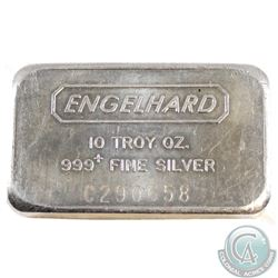 Engelhard 10oz Fine Silver Bar 'C' Series (Tax Exempt). Serial # C290658