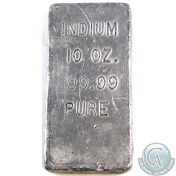 RARE  Old Pour INDIUM 10oz 99.99 Pure Bar in Blue Velvet Bag (Tax Exempt).