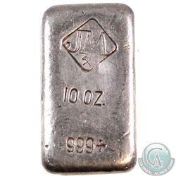 RARE  Johnson Matthey 10oz Fine Silver Bar (Tax Exempt). This example contains the Large Logo with C