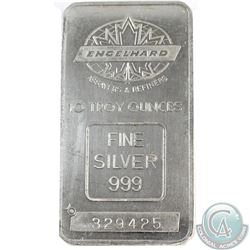 RARE  Engelhard 10oz Fine Silver Bar with TD Logo (Tax Exempt). This scarce variety contains the Can