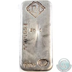 Ultra Scarce  Johnson Matthey 20oz Fine Silver Bar with Reverse Stamp Anomaly (Tax Exempt). This sca