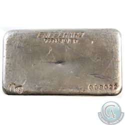 SCARCE  Engelhard - Australia 1Kg Fine Silver Bar (Tax Exempt). This vintage poured bar was produced