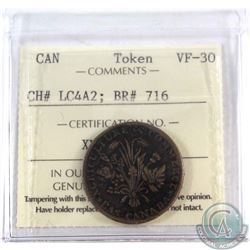 1837 UN SOU, La Banque du Peuple, CH# LC4A2, BR# 716 ICCS Certified VF-30