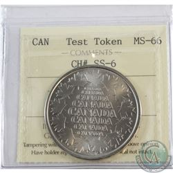 "Test Token CH# SS-6 ICCS Certified MS-66 with RCM ""Whatever you imagine, we can create"" Promotional"