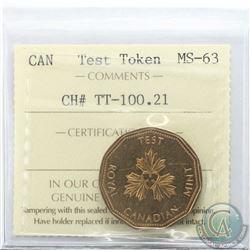 Test Token CH# TT-100.21 ICCS Certified MS-63