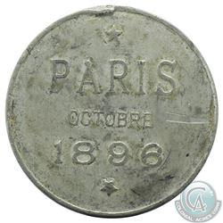 Paris Octobre 1896 Nicholas II Visit of the Russian Imperial Couple to Paris Pewter Medal. 35mm diam