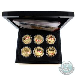 "2014 One Crown ""Ode Of Remembrance"" WWI Commemorative 24K Plated/Coloured 6-coin Collection. This se"