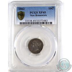 New Brunswick 10-cent 1862 PCGS Certified XF-45.
