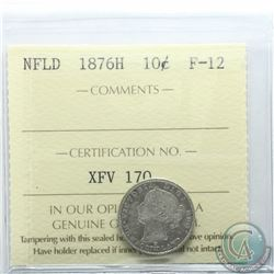 Newfoundland 10-cent 1876H ICCS Certified F-12