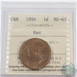 1-cent 1896 ICCS Certified MS-63 Red.