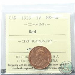 1-cent 1923 ICCS Certified MS-64 RED  *SCARCE* Tied for the highest grade  1 of 11 known.