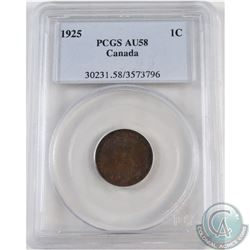 1-cent 1925 NGC Certified AU-58