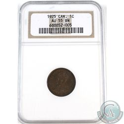 1-cent 1925 NGC Certified AU-55 Brown.