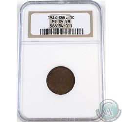 1-cent 1932 NGC Certified MS-64 Brown.
