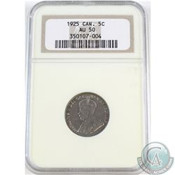 5-cent 1925 NGC Certified AU-50.