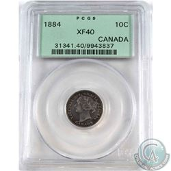 10-cent 1884 PCGS Certified XF-40  *KEY DATE*