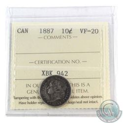 10-cent 1887 ICCS Certified VF-20