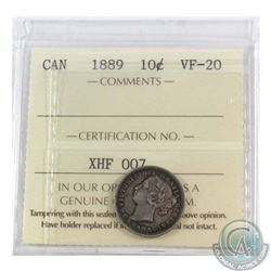 10-cent 1889 ICCS Certified VF-20
