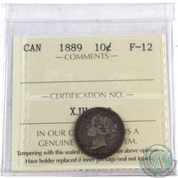 10-cent 1889 ICCS Certified F-12. **SCARCE**