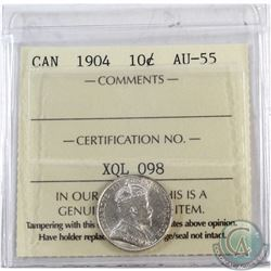 10-cent 1904 ICCS Certified AU-55.