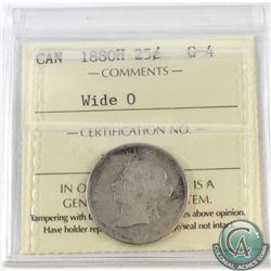 25-cent 1880H Wide O ICCS Certified G-4. Key Date.