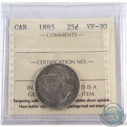 25-cent 1885 Curved Top 5 ICCS Certified VF-30 *KEY DATE*
