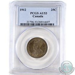 25-cent 1912 PCGS Certified AU-53.