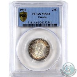 25-cent 1935 PCGS Certified MS-62.
