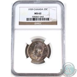 25-cent 1939 NGC Certified MS-62