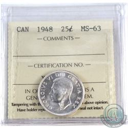 25-cent 1948 ICCS Certified MS-63