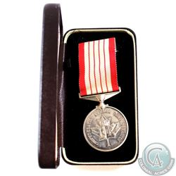 Medal; 1867-1967 Canadian Silver Confederation Medal and Ribbon in original display case.