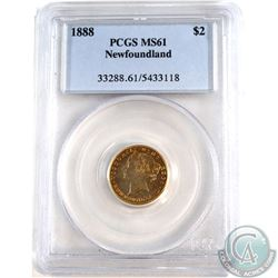 Newfoundland $2 1888 Gold PCGS Certified MS-61