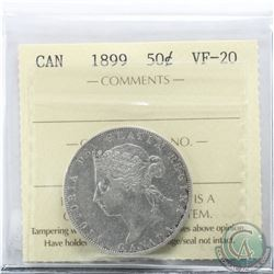 50-cent 1899 ICCS Certified VF-20