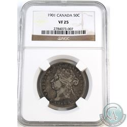 50-cent 1901 NGC Certified VF-25.