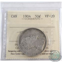 50-cent 1904 ICCS Certified VF-20.