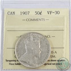 50-cent 1907 ICCS Certified VF-30.