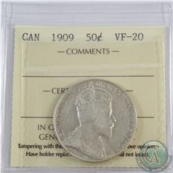 50-cent 1909 ICCS Certified VF-20.