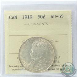 50-cent 1919 ICCS Certified AU-55