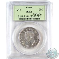 50-cent 1944 PCGS Certified MS-64.