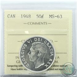 50-cent 1948 ICCS Certified MS-63